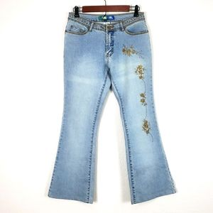 Metro Girl Embellished Bootcut Jeans Size 7